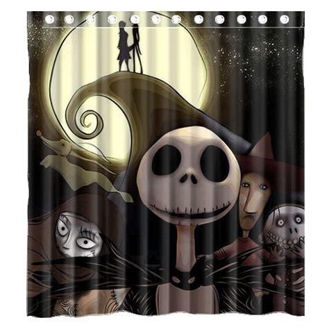 nightmare before bathroom decor funky nightmare before shower curtains funk
