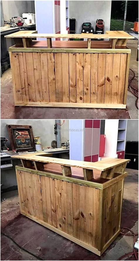 pallets wooden  bar  bares en  bar furniture