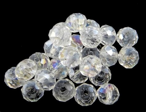 tschechische kristall perlen glasperlen mm crystall ab rondell neu