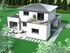 stunning maison moderne forme cubique pictures amazing With beautiful plan de maison cubique 8 maison cubique cube ou carree en ossature bois par votre