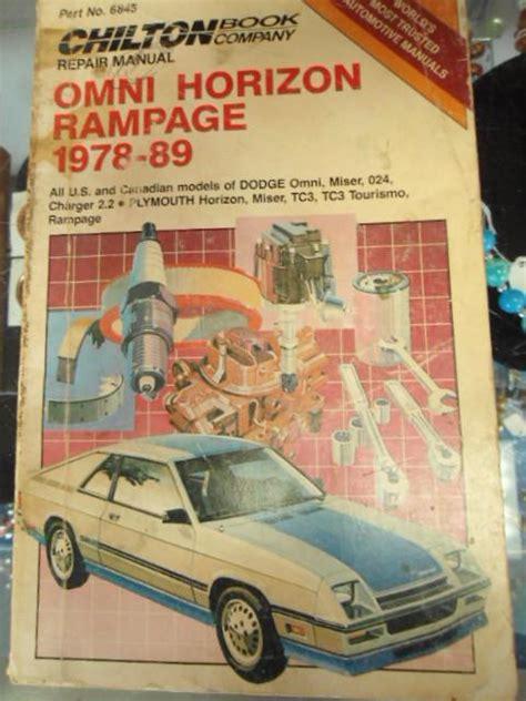 chilton car manuals free download 1992 dodge spirit transmission control purchase chilton omni horizon rage 1978 thru 1989 car repair manual motorcycle in mcminnville