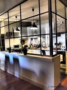 Verriere Cuisine Prix : choisir d 39 installer une cuisine semi ouverte habitatpresto ~ Premium-room.com Idées de Décoration