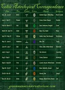 Irish Celtic Symbols And Meanings Chart Celtic Astrological Correspondence Celtic Symbols