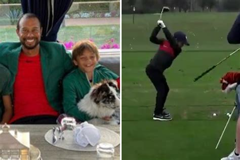 Watch Tiger Woods' son Charlie, 11, hit perfect tee-shot ...