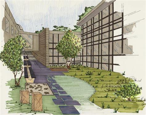 crum woods courtyard landscaping plan artrenderings