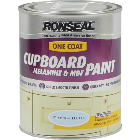 Ronseal Cupboard Paint by Ronseal One Coat Cupboard Paint Fresh Blue 750ml