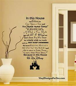 in this house we do disney wall decal with mickey mouse With disney wall decals