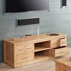 Mobel Oak Widescreen Television Cabinet AKD Furniture