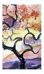 painting, Watercolor, Artwork, Warm colors, Nature ...