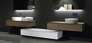Salle de bain design avec vasque double a poser deco for Salle de bain design avec image encadree décoration