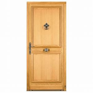 porte d39entree en bois massif avec moulure et panneau isolant With porte d entree en bois massif