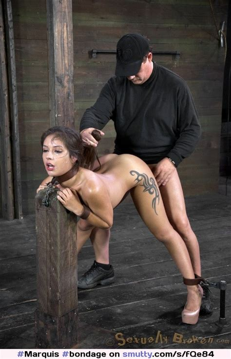 Anal Pillory Brunette Sub In Pillory Gets Anal Banged
