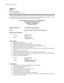 resume sle format word document simple resume exles for jobs exles resumes best photos basic resume templates for any
