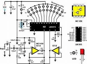 lm3914 circuit schematics lm3914 get free image about With diagrams further lm3915 vu meter circuit on 9 volt battery schematic