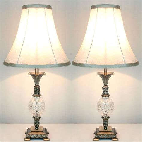 pull shades 2x vintage bedside table ls w glass metal base buy