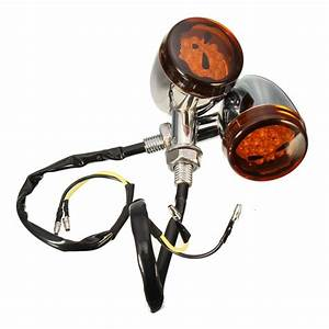 12v Motorycle Skull Turn Signals Light For Harley Davidson