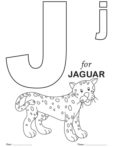Coloring Alphabet by Printables Alphabet J Coloring Sheets Free