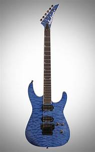Jackson Pro Soloist Sl2q Mah Electric Guitar  Transparent Blue