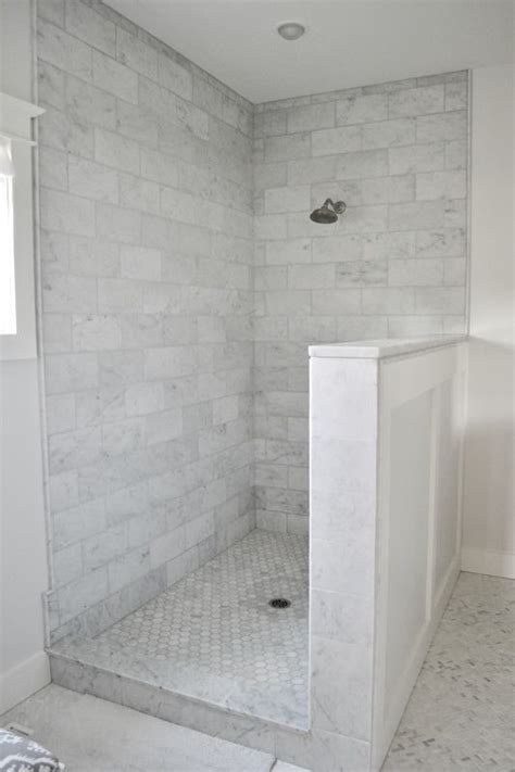 Carrara Marble Bathroom Floor by Gray And White Carrara Marble Master Bathroom Modern