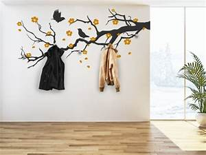 Baum Als Garderobe : wandtattoo garderobe eine originelle idee ~ Buech-reservation.com Haus und Dekorationen