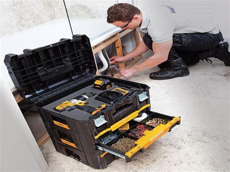 dewalt tstak tool foam storage power dwst1 insert box ii case jigsaw 5l capacity drill driver plastic impact boxes