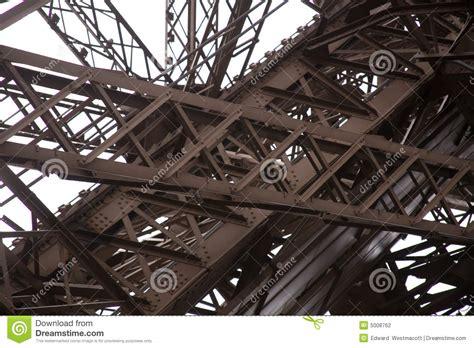 steel girders  eiffel tower stock photography image