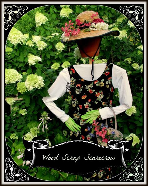 diy project wood scrap scarecrow  garden maiden