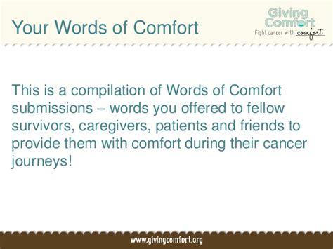 words of comfort words of comfort for cancer journeys