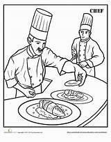 Chef Coloring Pages Colouring Worksheet Education Career Printable Worksheets Chefs Kitchen Children Pizza Grade Colors Printables Second Learning Got sketch template