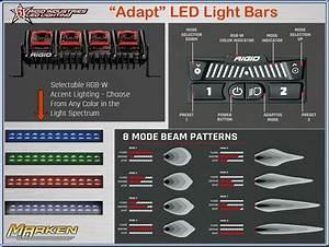 Rigid Sema Award Winner  U0026quot Chase U0026quot  Led Light And New  U0026quot Adapt U0026quot  Led Light Bars