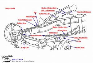 1959 Corvette Front Brake Lines Parts