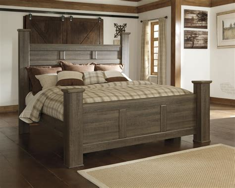 Ashley Juararo B251 King Size Poster Bedroom Set 2 Night