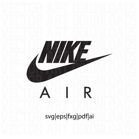 Click the logo and download it! Nike Air Logo Inspired Vector Art svg dxf fxg eps pdf ai