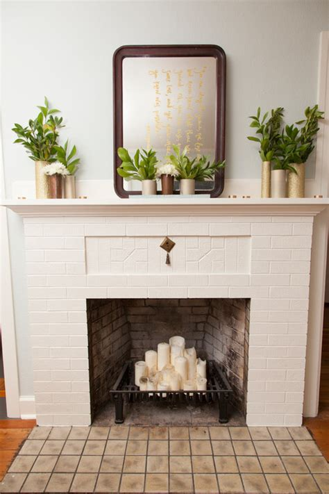 decorative fireplace mantels ideas pics design 10 ways to decorate your fireplace in the summer since