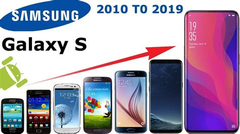 samsung galaxy s series phone history 2010 to 2019 all samsung s series phone youtube