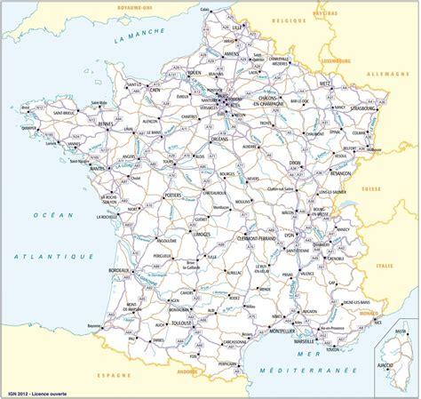 Carte De à Imprimer Avec Villes by Carte De 224 Imprimer Avec Villes Et D 233 Partements