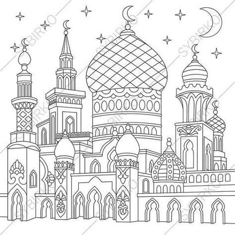 Coloring Mosque by Turkish Mosque Arabic Islamic Buildings Ramadan