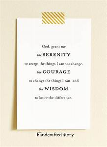 Serenity Prayer Printable  Serenity Prayer Printable