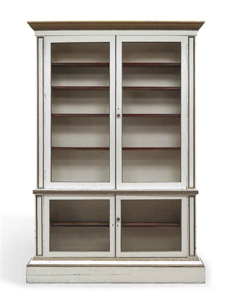 white library bookcase with doors a george ii white painted and parcel gilt library bookcase