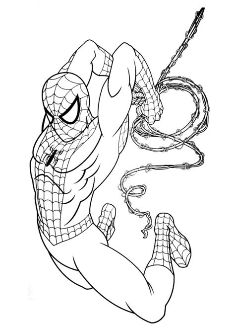 iron spider coloring pages coloring home