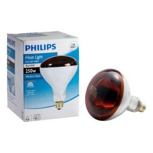philips 250 watt incandescent r40 heat l light bulb