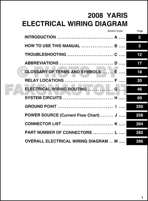 electrical wiring diagram 2008 toyota yaris toyota auto