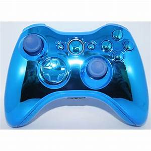 Blue Chrome Xbox 360 Modded Controller