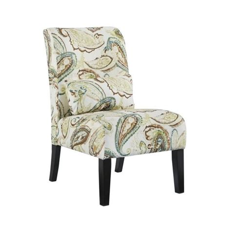 annora chenille armless accent chair in paisley