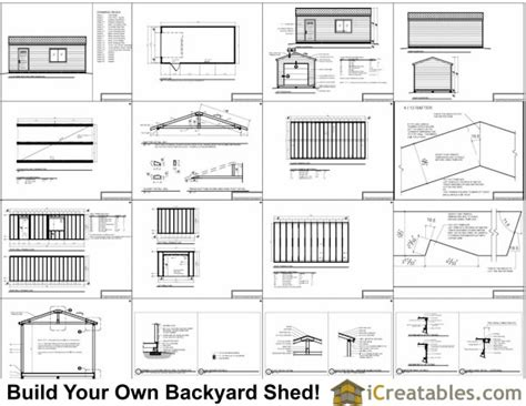 12x24 Shed Plans Materials List by 12x24 Garage Shed Plans Icreatables