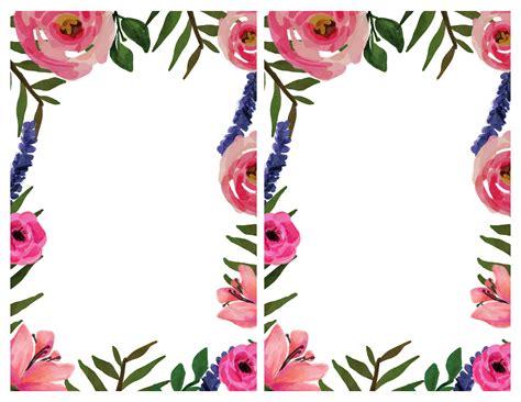 Floral Invitation { Free Printable Invitation Templates