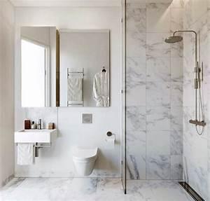Salle De Bain Marbre Blanc : la petite salle de bains un grand d fi et un vrai plaisir ~ Nature-et-papiers.com Idées de Décoration