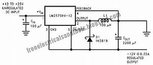 free schematic diagram inverting buck boost circuit using With lm2575 switching regulator 12 12v for solar