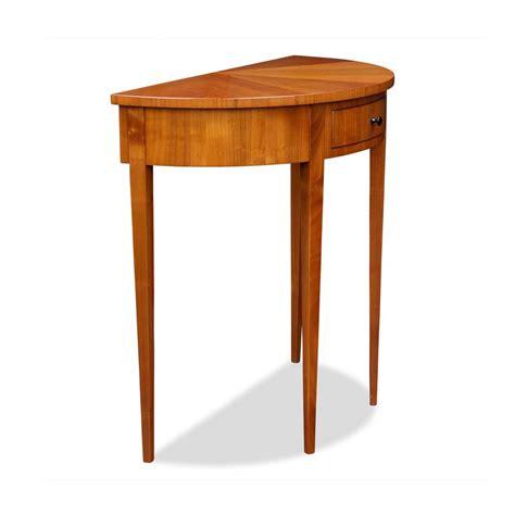 Halbrunder Tisch by Demi Lune Tisch Kirschbaum Mit Schublade