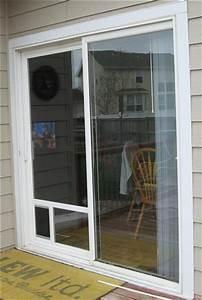 Dog door for sliding door comfort your pets in a trendy for Interior door with dog door